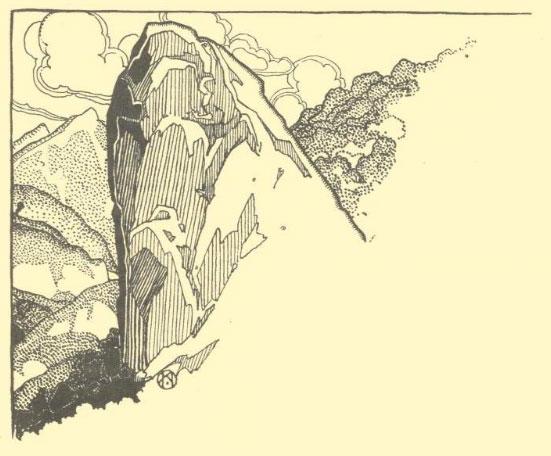 Курбан–кая – жертвенная скала.