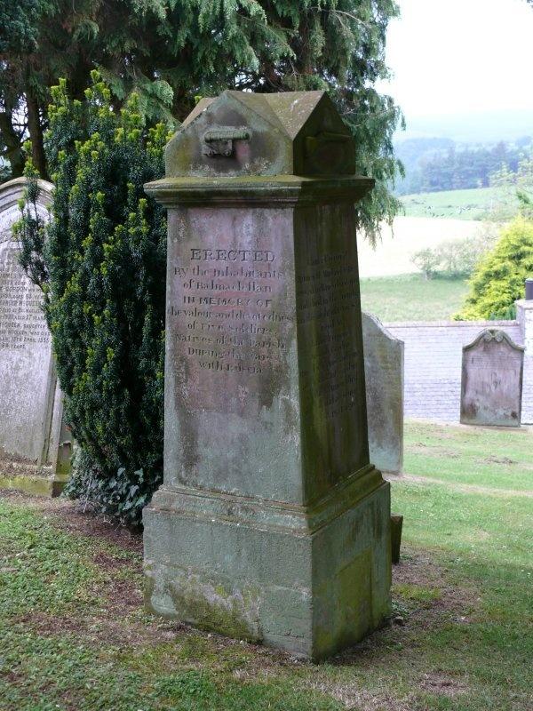 Balmaclellan Crimean War Memorial