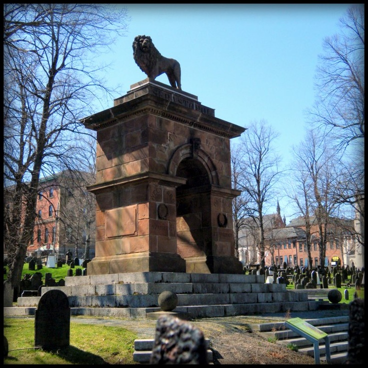 Crimean War Memorial, Halifax, 1860. Lion, arch