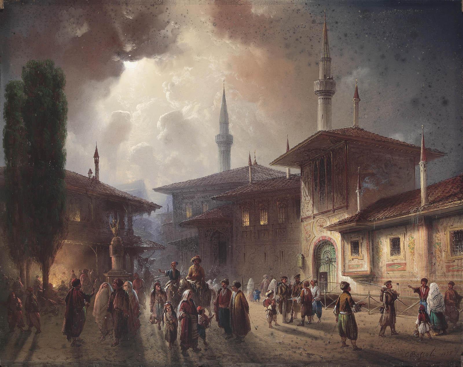 Carlo_Bossoli_Khanpalast_von_Bachcisaraj_1857_