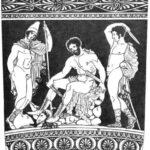 194. Одиссей сходит в царство Аида