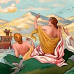 195. Плавание Одиссея мимо острова Сирен и мимо Скиллы и Харибды
