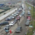 Автомобили ждут очереди на паром в Крым не более 5-6 часов