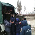 На переправе в Керчи установили палатки и полевую кухню