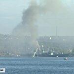 В Севастополе потушили пожар на противолодочном корабле «Керчь»