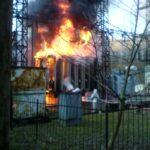 В Симферополе загорелся трансформатор