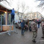 В центре Симферополя начали разбирать «Первое русское кафе в русском Крыму»