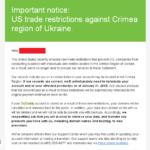 С февраля американские доменные компании удалят аккаунты пользователей в Крыму