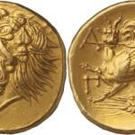 На швейцарском аукционе выставлена редкая золотая монета Боспорского царства.