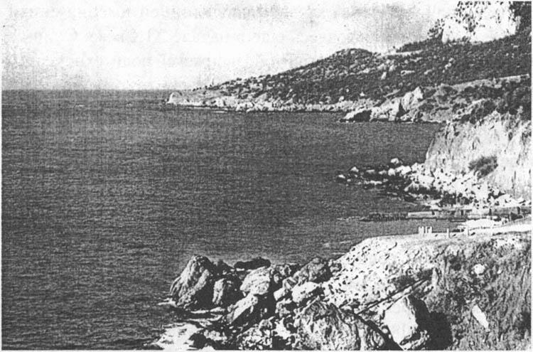 Вид на мыс Сарыч со стороны Фороса. 1960 г.