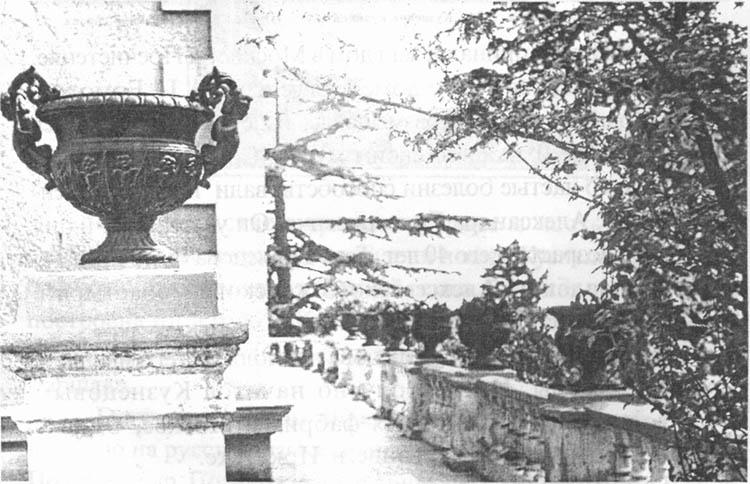 В Форосе еще в 70-е годы чугунные вазы у дворцового корпуса были украшены фигурками купидонов