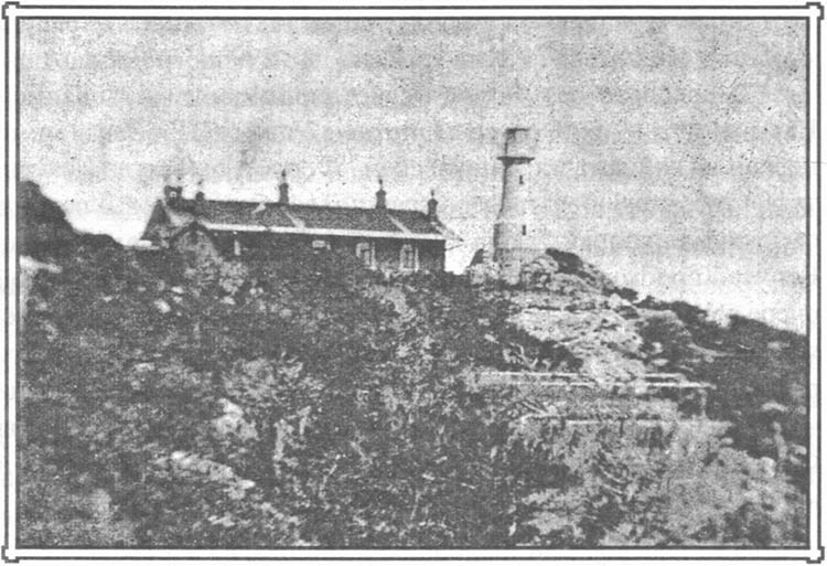Маяк на мысе Сарыч. Фото начала XX века