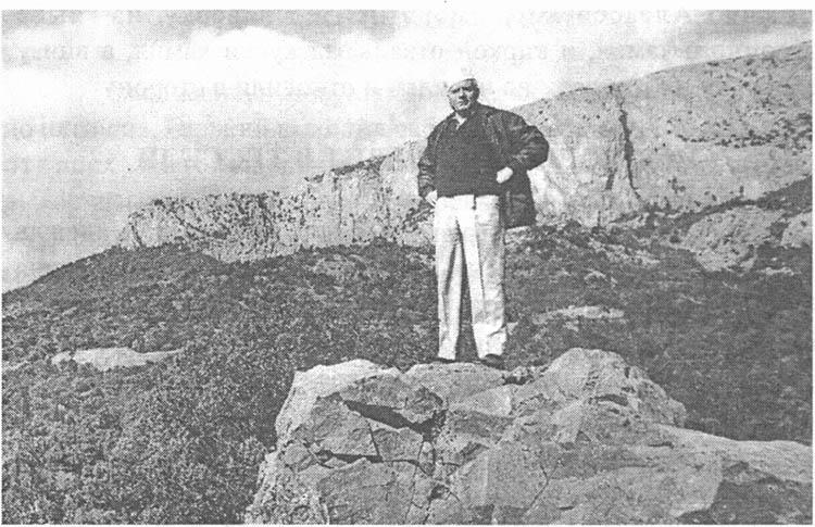 И.С. Козловский на горьковском камне. 1969 г.