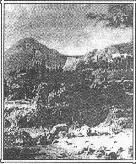 На картине. написанной в 1875 г. Красная скала еще пустынна