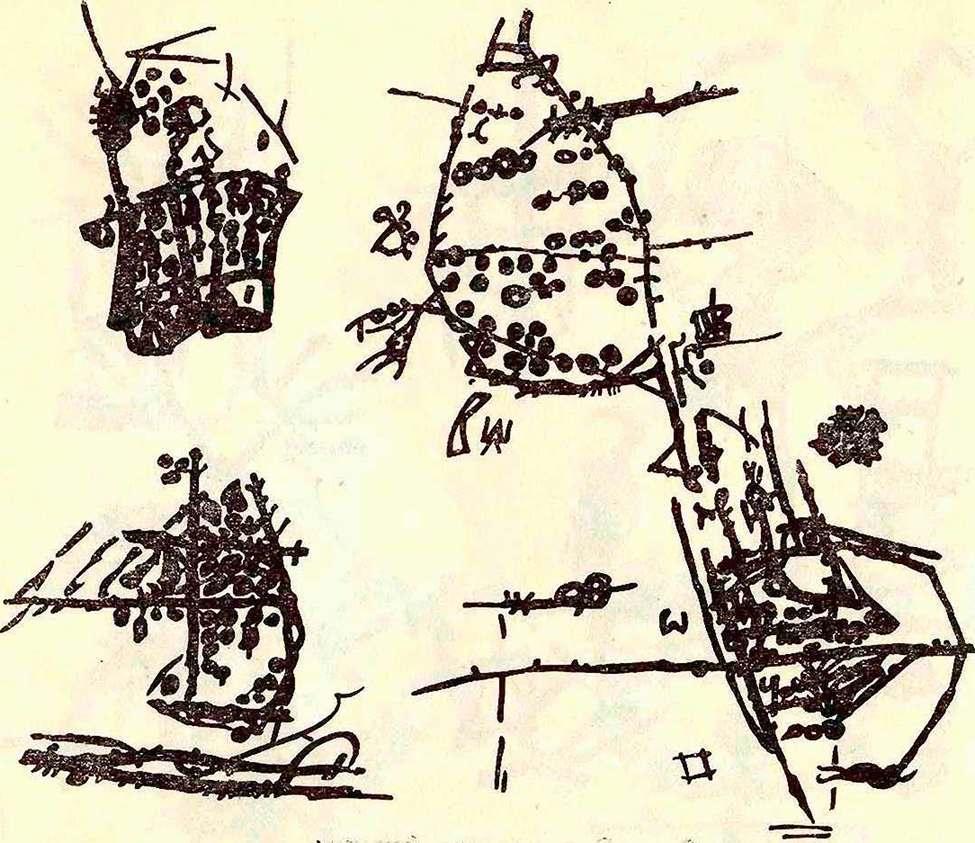 Изображения в виде резных линий и чашеобразных углублений