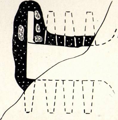 План одной из гончарных печей Чобан-Куле