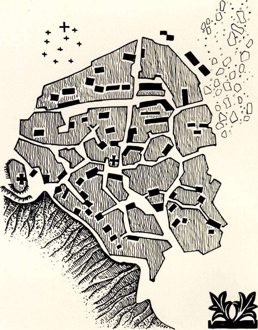 План археологического комплекса Фуны. Поселение, крепость, могильник