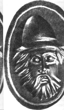 Скарабей с изображением скифа