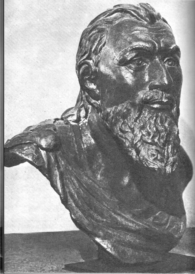 Голова восстановленная по черепу из Неаполя Скифского