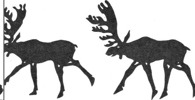 Олени, вырезанные из кожи для седельной покрышки