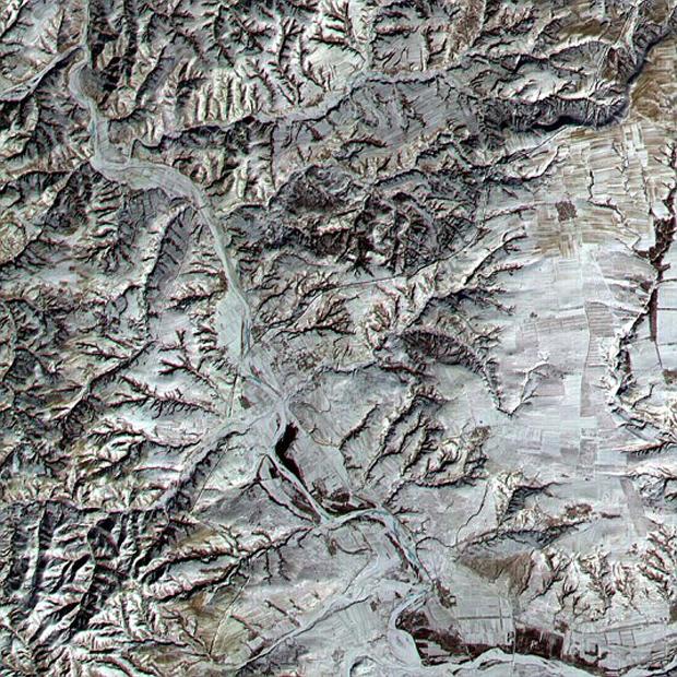 Как выглядят древние руины из космоса?