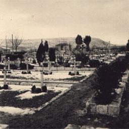 Военное немецкое кладбище времён ВОВ. Бахчисарай. Скан оригинального фото.