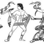 210. Аполлон и Афина-Паллада спасают Ореста от преследования Эриний
