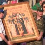 Уральские казаки привезли в Крым икону Романовых в годовщину гибели царской семьи