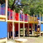 В Ялте открыли самую большую в городе детскую площадку