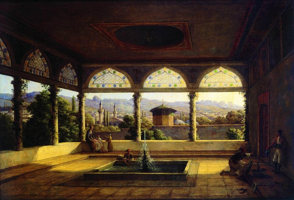 Вид Бахчисарайского дворца