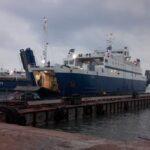 Установленный на Керченской переправе новый 100-метровый причал повысит безопасность перевозок