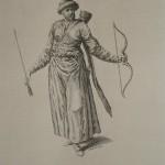 """Гравюра """"Обитатель Татарского Крыма, 1700 год""""."""