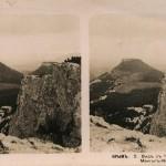 Вид с Чуфут-Кале на Мангуп-Кале. Стереопара. Крым. 1910 год.