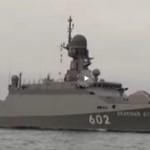Вооруженные «Калибром» ракетные корабли-невидимки прибыли в Крым (видео)