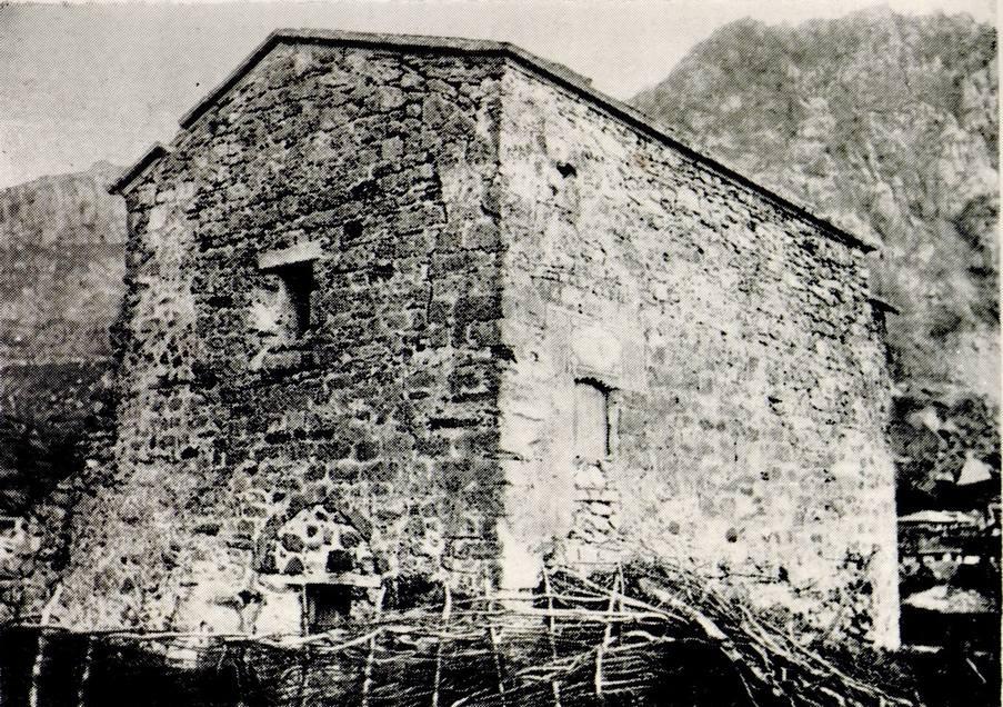 Храм крепости Фуна. Фото А.Л. Бертье-Делагарда. 1889 г