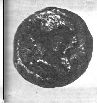Ольвийская монета с изображением Скилура. II век до н. э.