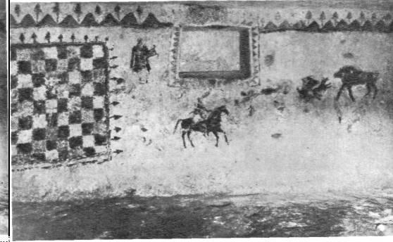 Сцены охоты. Стенная роспись склепа. I век до н. э.
